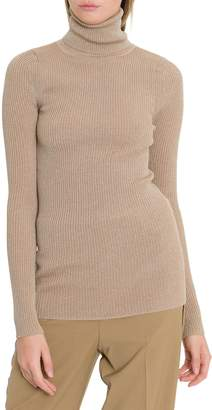 Forte Forte Forte_Forte Turtle Neck With Vanise Lurex Ribs