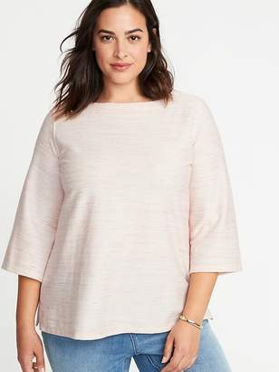 Old Navy Plus-Size Textured Boat-Neck Top