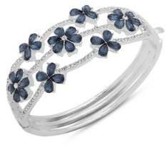 Anne Klein Crystal Flower Boxed Bangle Bracelet