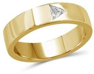 Love and Pride 14K Yellow Gold Trillion Diamond Ring