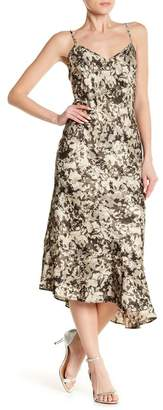 Kenneth Cole New York Asymmetrical Hem Floral Print Camisole Dress