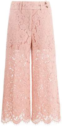 Pt01 cropped lace trousers