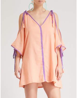 Pitusa Mini Ottoman contrast-trim cotton dress