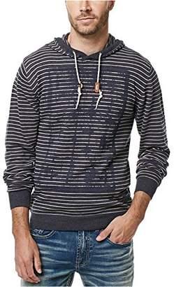 Buffalo David Bitton Men's Waslub Long Sleeve Light Weight Hooded Fashion Sweater