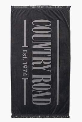 Country Road Logo Beach Towel