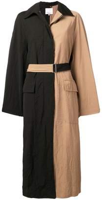 3.1 Phillip Lim bicolour long trench coat