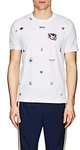 Kenzo Men's Embroidered Logo Cotton T-Shirt - White