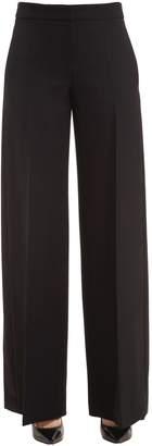 Alexander McQueen Wool & Silk Blend Pants W/ Side Bands