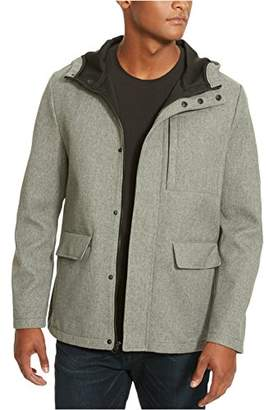 Kenneth Cole New York Men's Bonded JKT W/Hood