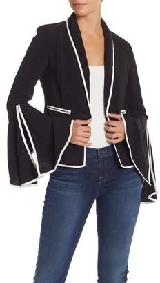 Do & Be Do + Be Angel Sleeve Piped Trim Blazer