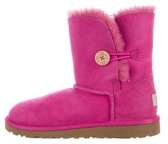 UGG Australia Suede Round-Toe Ankle Boots $80 thestylecure.com