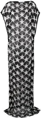 star print sheer dress