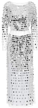 AlexaChung Sequinned linen dress