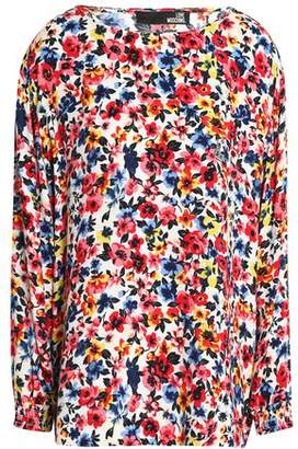 Love Moschino Floral-Print Crepe Blouse