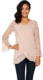 Laurie Felt Goddess Blouse with LaceSleeves
