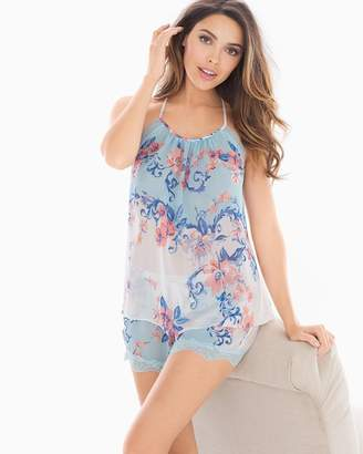 In Bloom Porcelain Rose Cami and Shorts Sleep Set