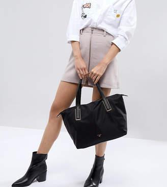 Dune Dindy Nylon Tote Shoulder Bag in Black