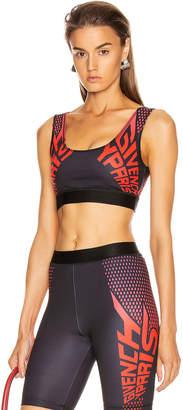 Givenchy Sport Logo Sports Bra Top in Black & Red | FWRD
