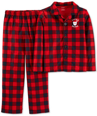 Carter's Cater's Little & Big Boys Red Buffalo Check Pajamas