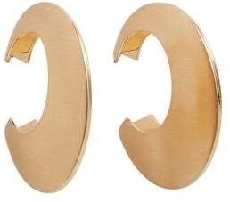 Violeta BY MANGO Metallic hoop earrings