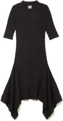 Vince Camuto Ribbed Asymmetric Dress