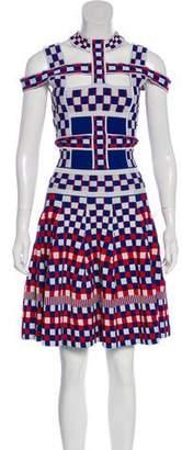 Alexander McQueen Knit Checkered Dress