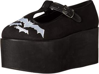 Demonia Women's Click 04-2 Platform T-Strap Mary Jane