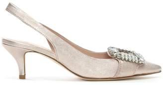 Kennel + Schmenger Kennel & Schmenger Hertz Pink Metallic Leather Kitten Heel Shoes