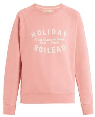 Holiday Boileau - Logo Print Cotton Sweatshirt - Womens - Nude