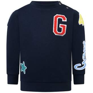 Gant GantBoys Navy Multi Badge Crew Neck Sweater