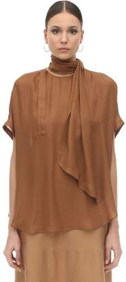 Agnona Silk Top W/ Scarf