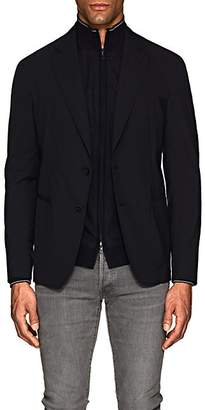 Giorgio Armani Men's Stretch-Wool-Blend Two-Button Sportcoat - Navy