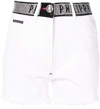 a6098a3e40 Philipp Plein stud-detail denim shorts
