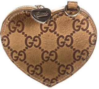 Gucci Gucci Guccissima Heart Coin Purse