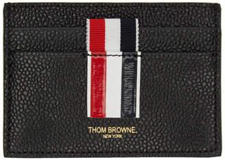 Thom Browne Black Stripe Single Card Holder