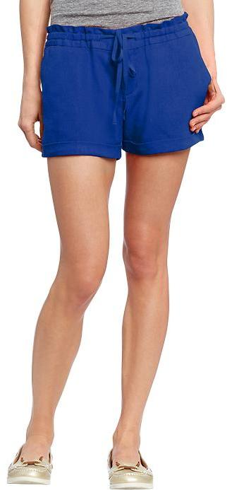 "Old Navy Women's Drawstring Linen-Blend Shorts (3-1/2"")"