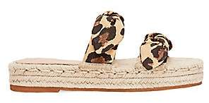 Loeffler Randall Women's Daisy Two Bow Cotton Espadrille Platform Sandals