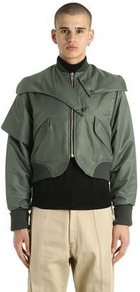 Vejas Cropped Nylon Bomber Jacket