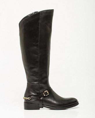 Le Château Italian-Made Leather Riding Boot