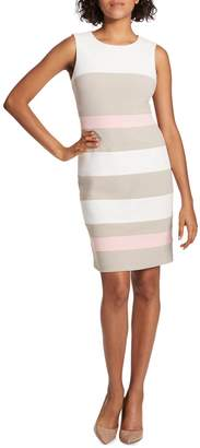 Tommy Hilfiger Colourblock Stripe Scuba Sheath Dress