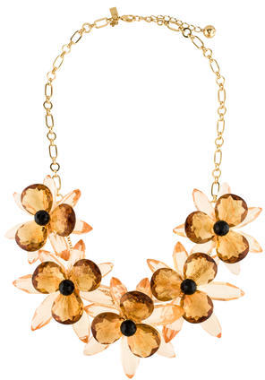 Kate Spade Kate Spade New York Crystal Floral Statement Necklace