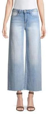 L'Agence Danica Wide-Leg Raw Hem Jeans