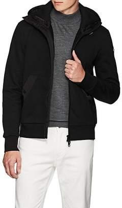 Moncler Men's Double-Hood Cotton Cardigan Jacket - Black