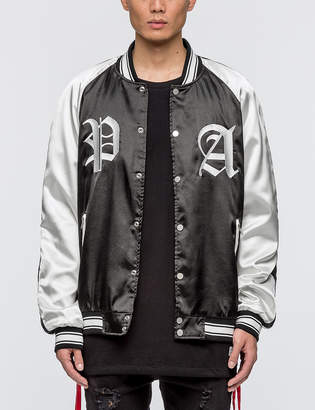 Profound Aesthetic Color Blocked Boxing Satin Jacket
