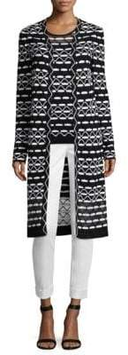St. John Long Knit Cardigan