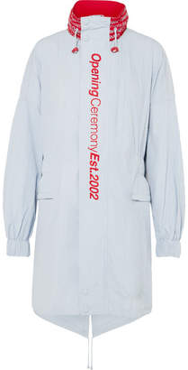 Opening Ceremony Embroidered Printed Shell Parka - Sky blue