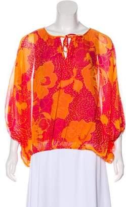 Diane von Furstenberg Silk Dolman Sleeve Blouse
