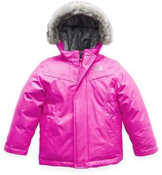 The North Face Greenland Down Hooded Jacket w/ Faux-Fur Trim, Size 2-4T