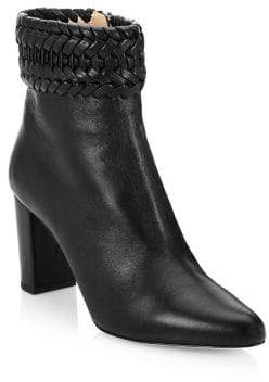 Altuzarra Chianda Braided Leather Ankle Boots