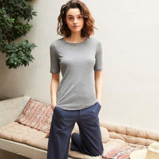 Comptoir des Cotonniers コットンモダールリブ5分袖Tシャツ